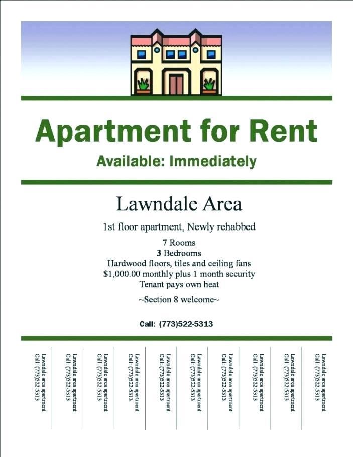 Apartment Rental Advertisement Template
