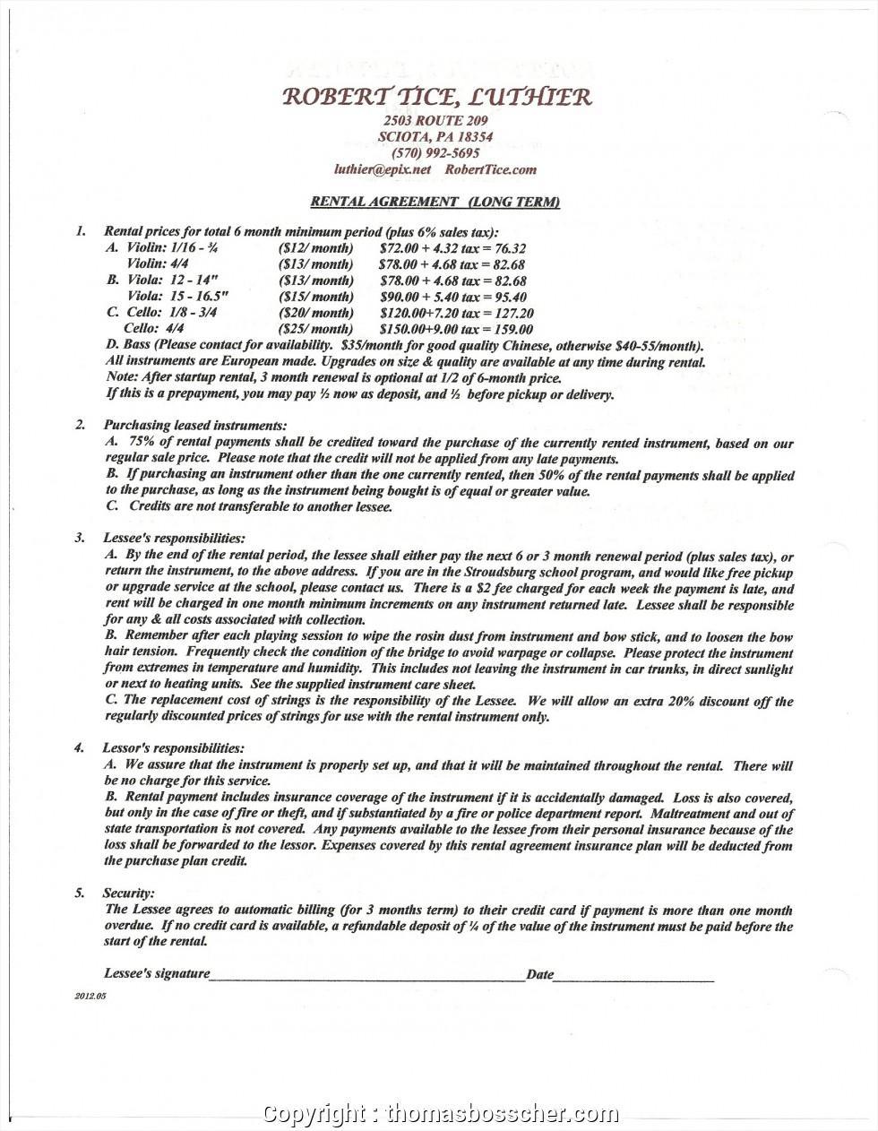 Apartment Rental Resume Template