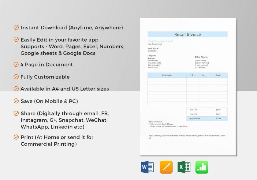 Apple Pages Invoice Template Free
