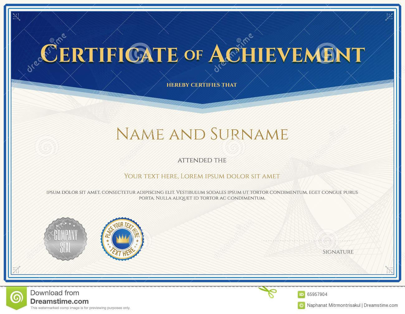 Appreciation Certificate Layout