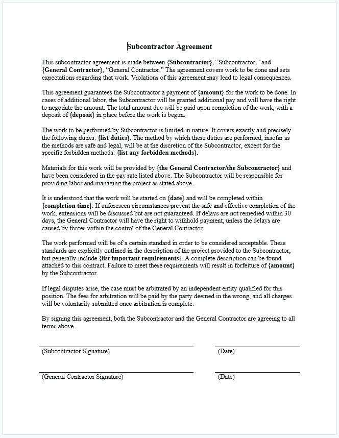 Arbitration Agreement Template South Africa