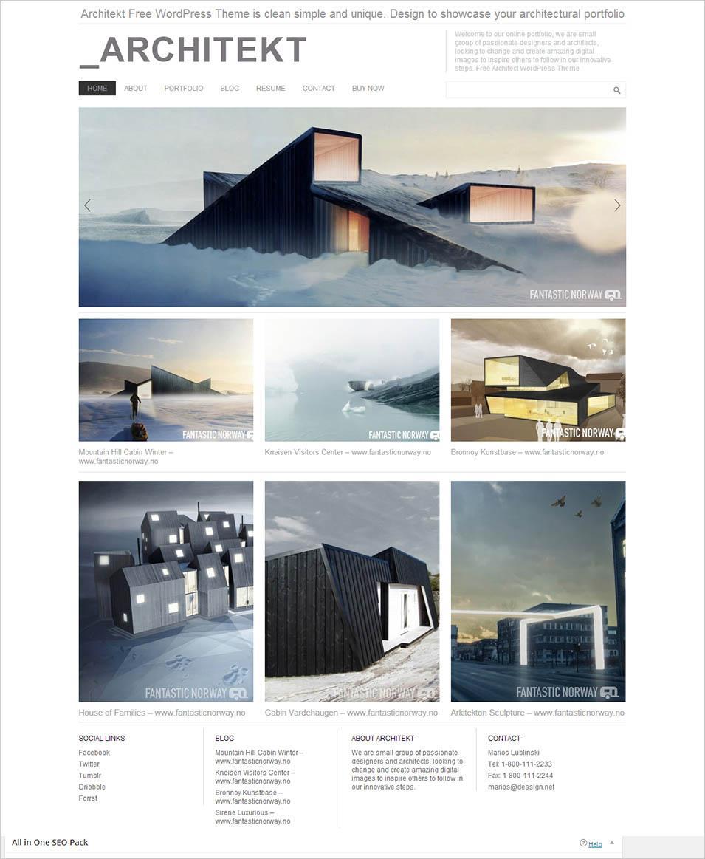 Architectural Portfolio Templates Psd
