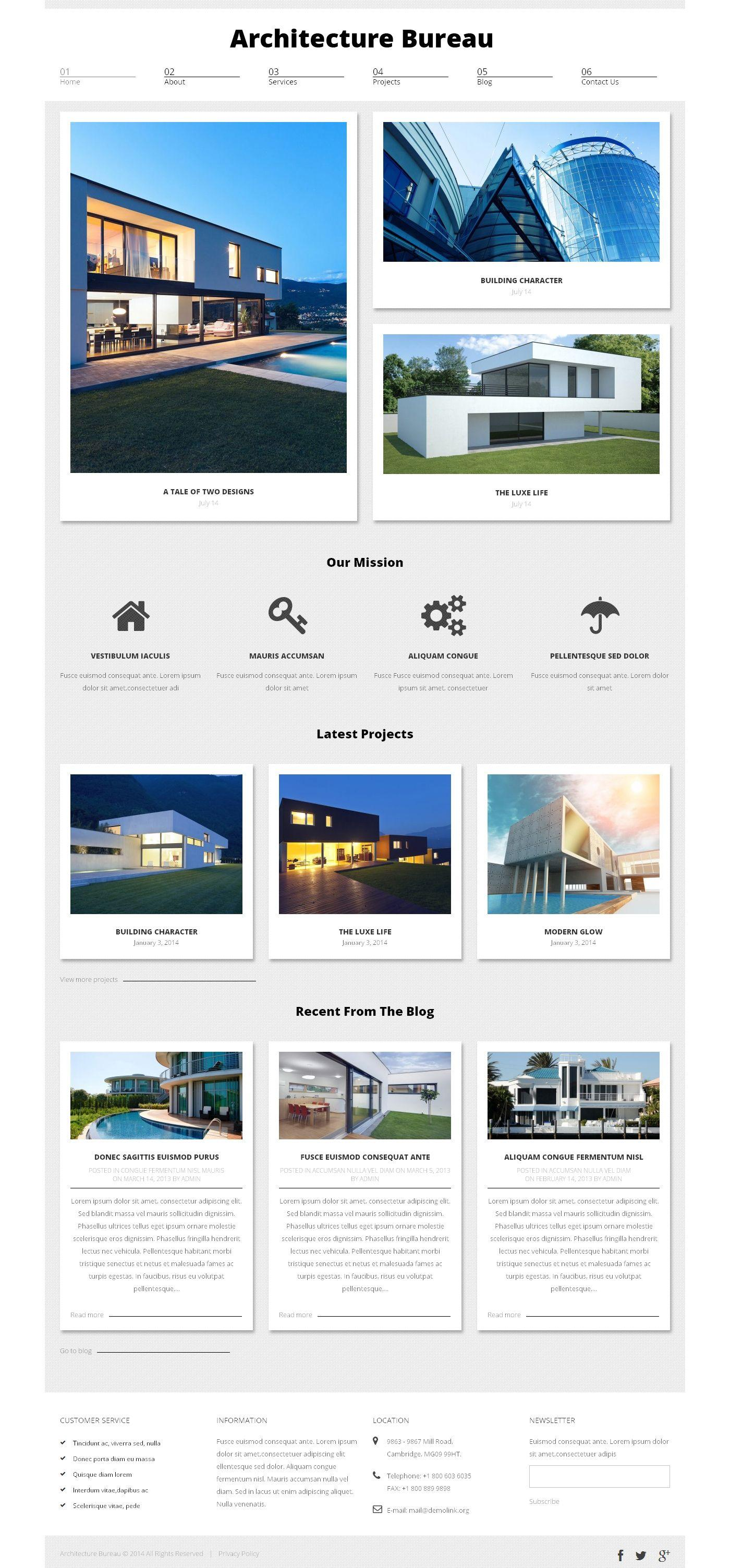 Architecture Website Templates WordPress