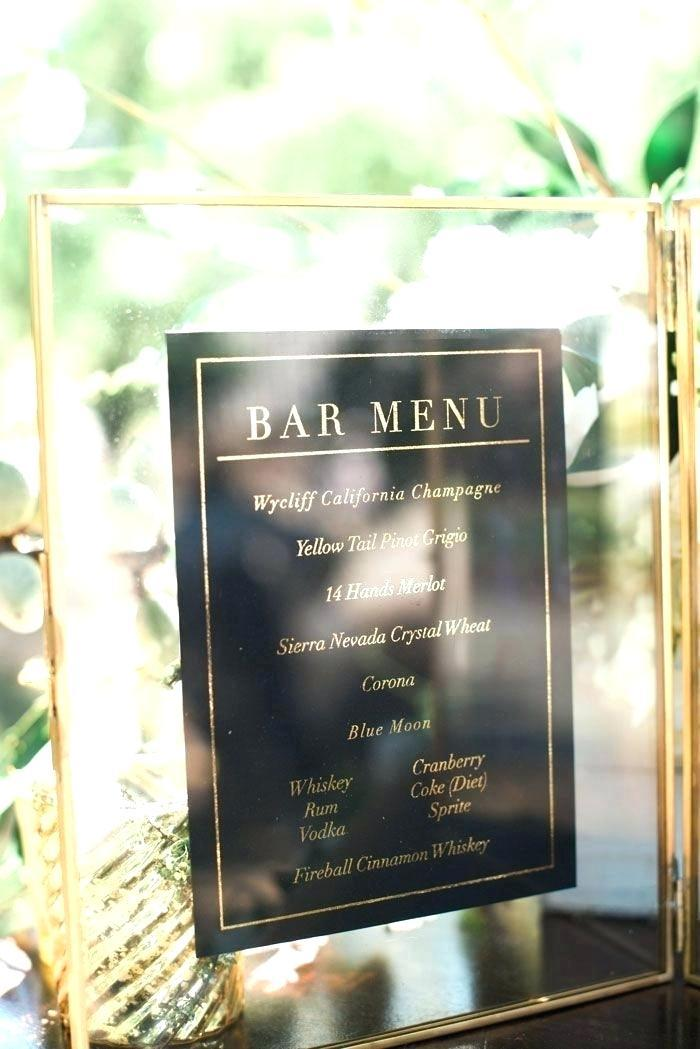 Art Deco Menu Template Free Download
