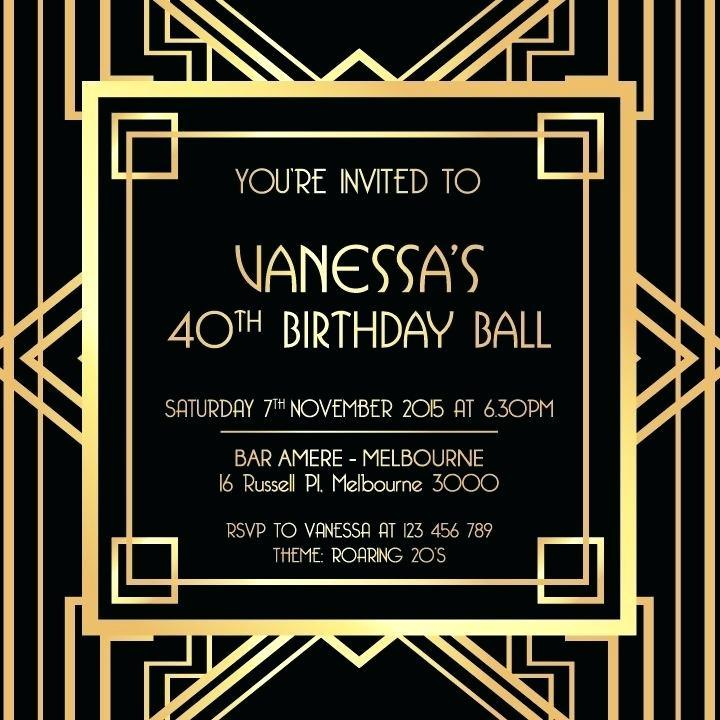 Art Deco Party Invitation Templates Free