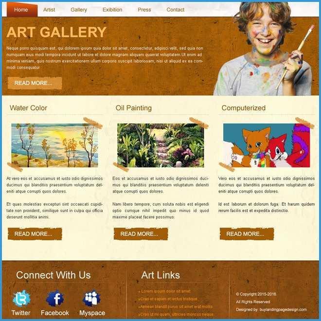 Art Gallery Websites Templates