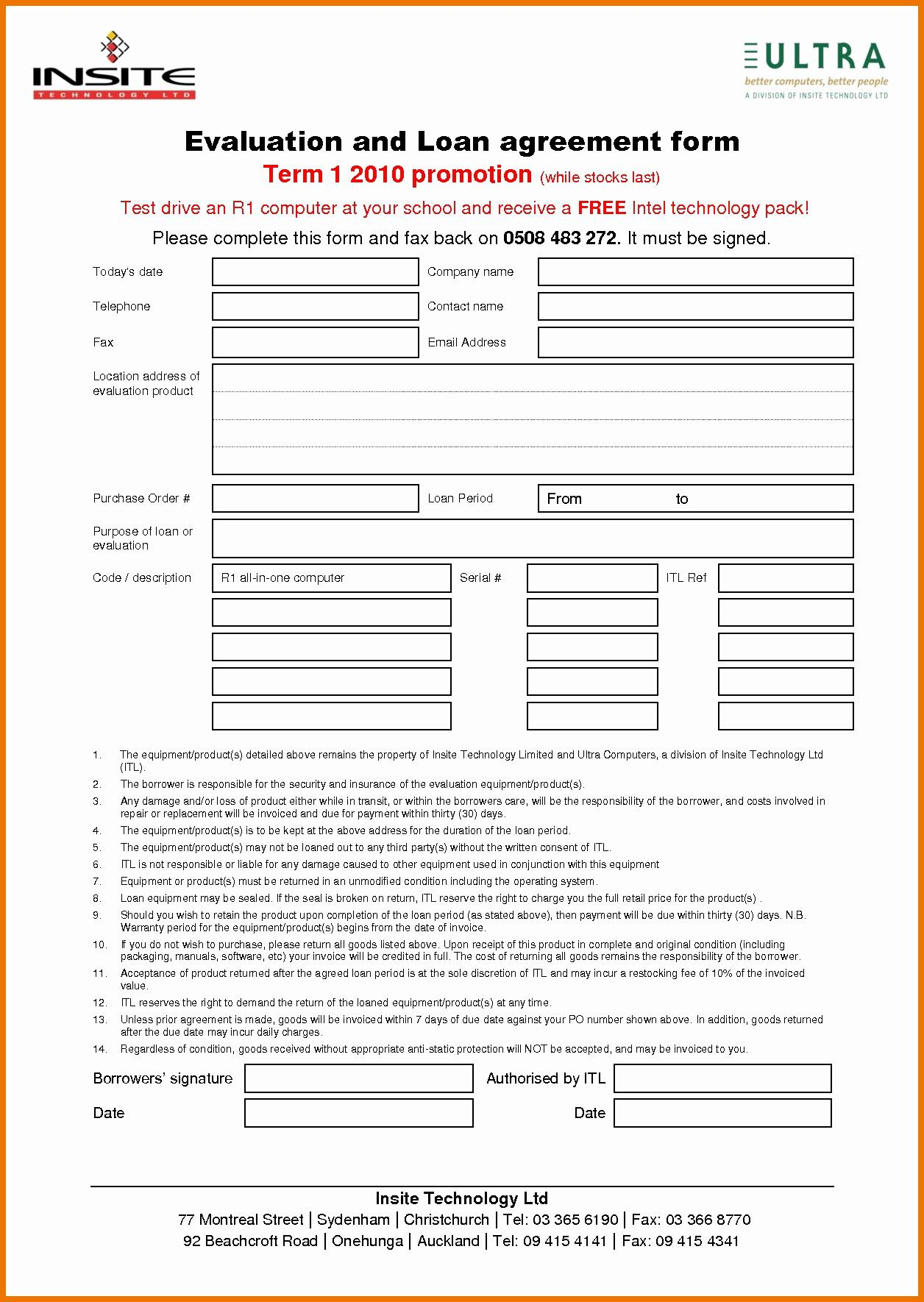 Art Loan Agreement Template