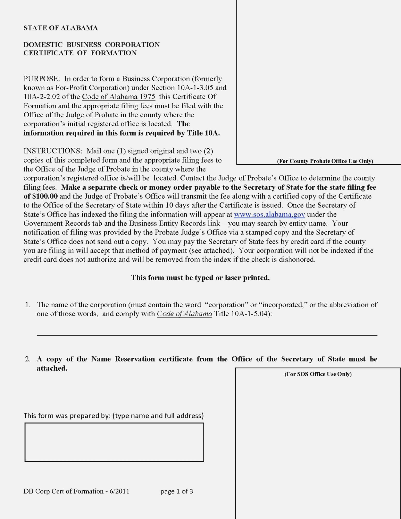 Articles Of Organization Llc Georgia Template