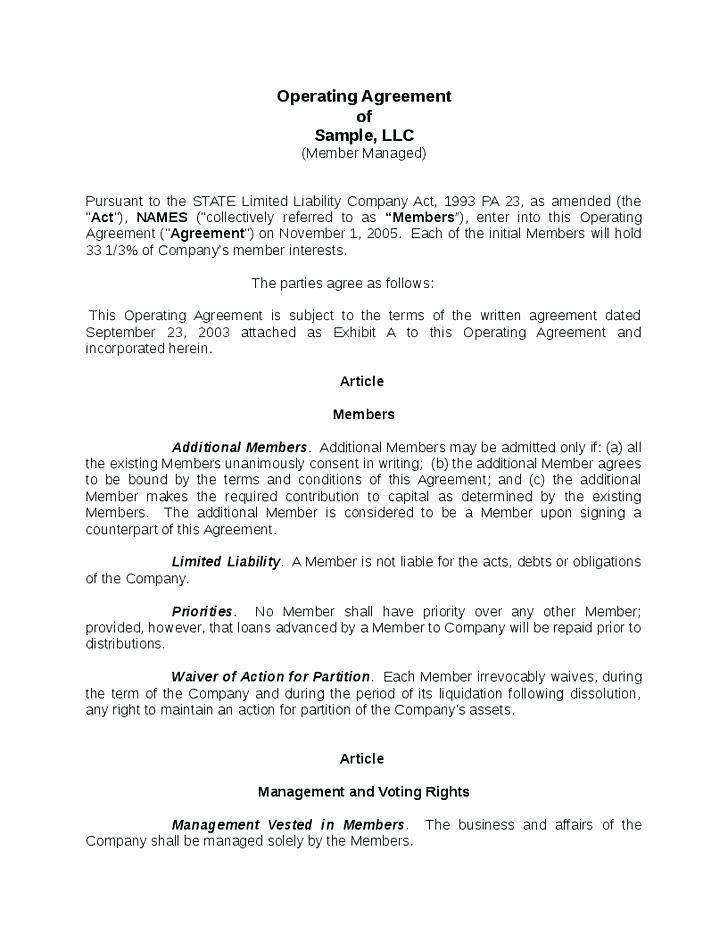Articles Of Organization Llc Template Ohio