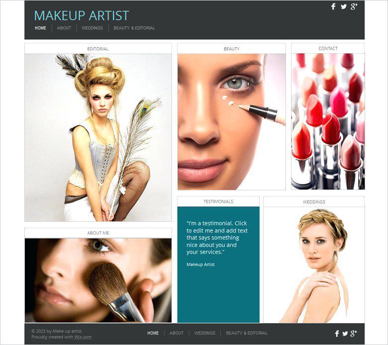 Artist Portfolio Website Templates Free