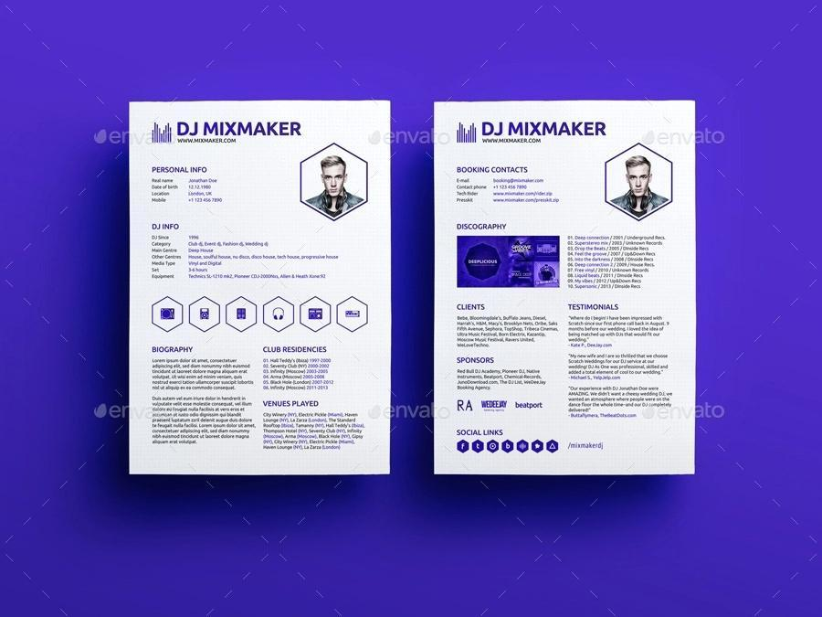 Artist Press Kit Template Free