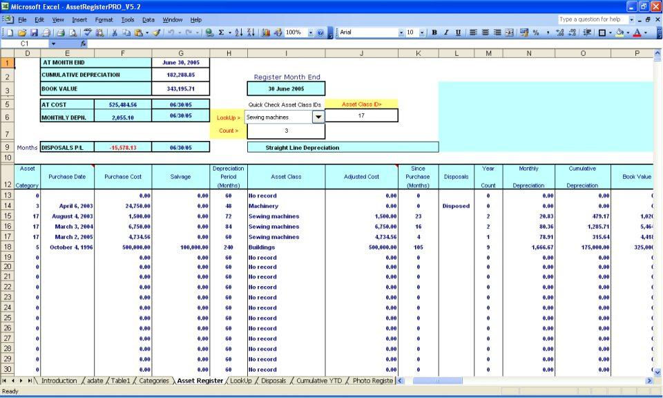 Asset Inventory Management Excel Template