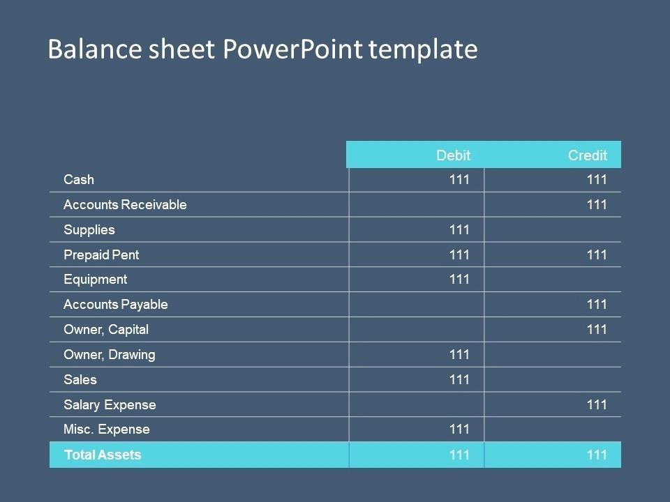 Asset Sheet Example
