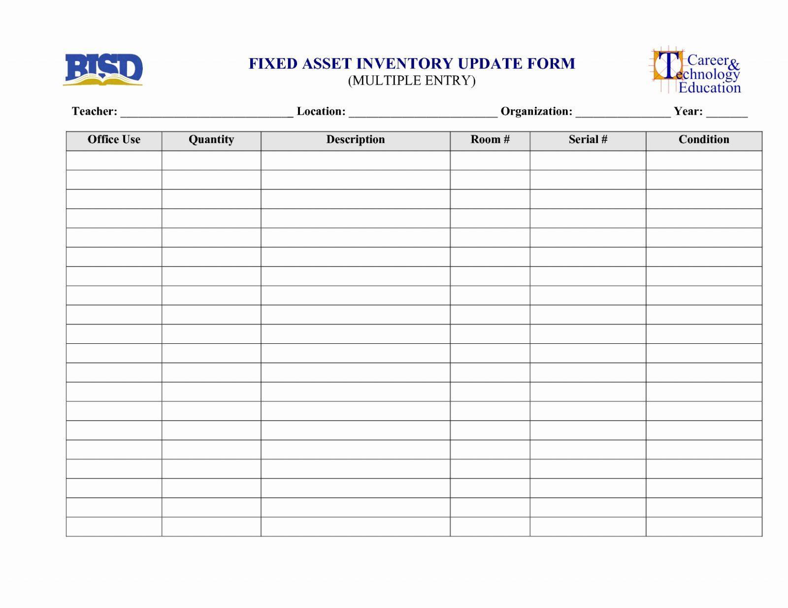 Asset Sheet Template