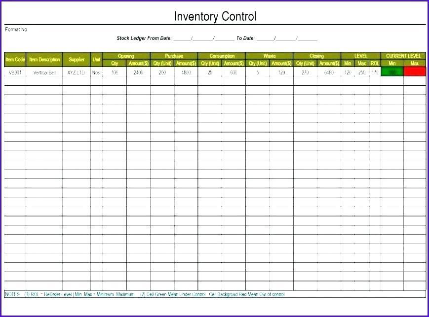 Asset Spreadsheet Template