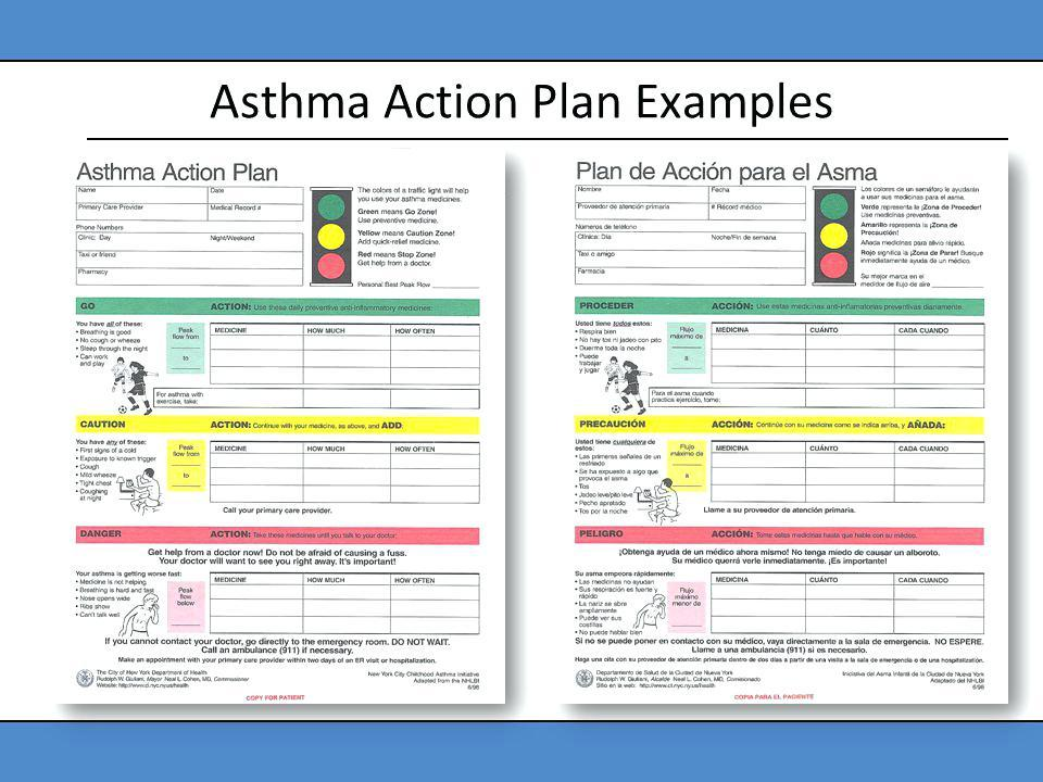 Asthma Action Plan Form Spanish