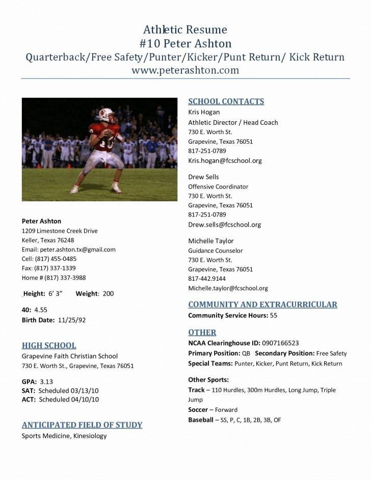Athletic Resume Templates