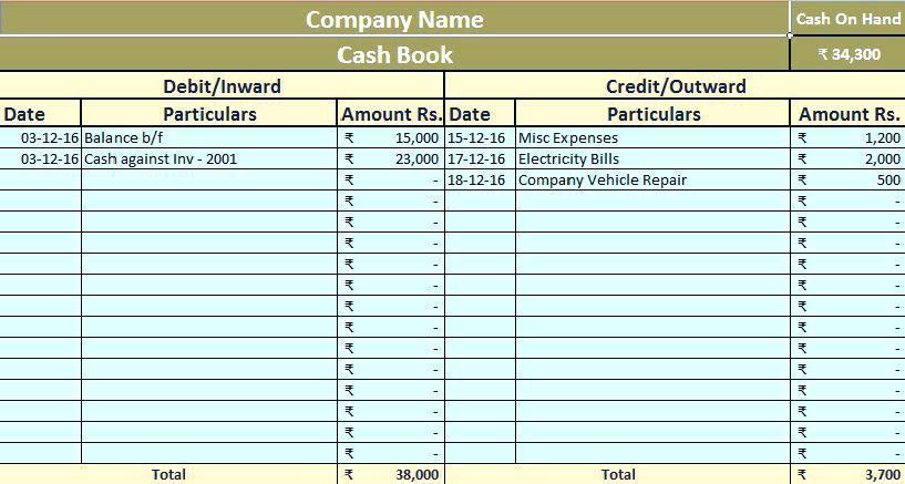 Attendance Book Template Excel