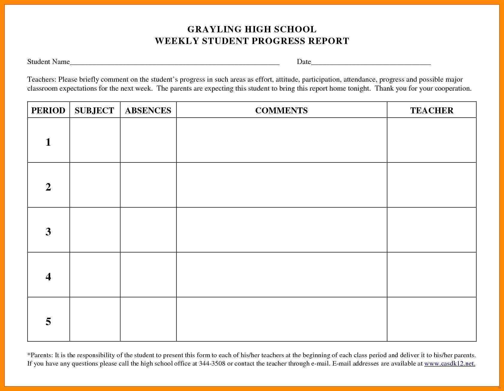 Attendance Grade Book Template