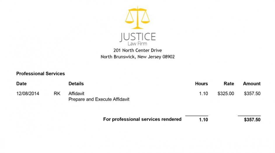 Attorney Billing Invoice Template