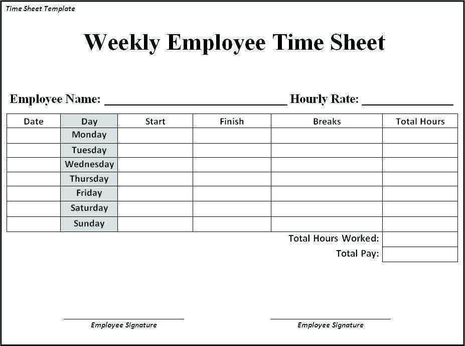 Attorney Timesheet Template Word