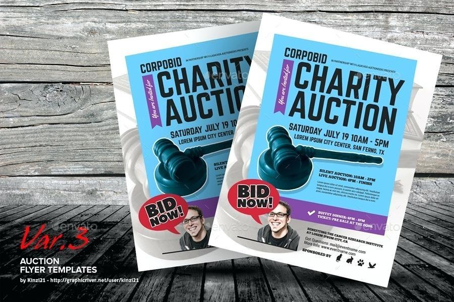 Auction Donation Flyer Template