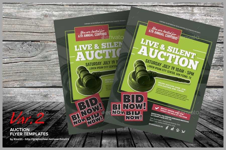 Auction Flyer Samples