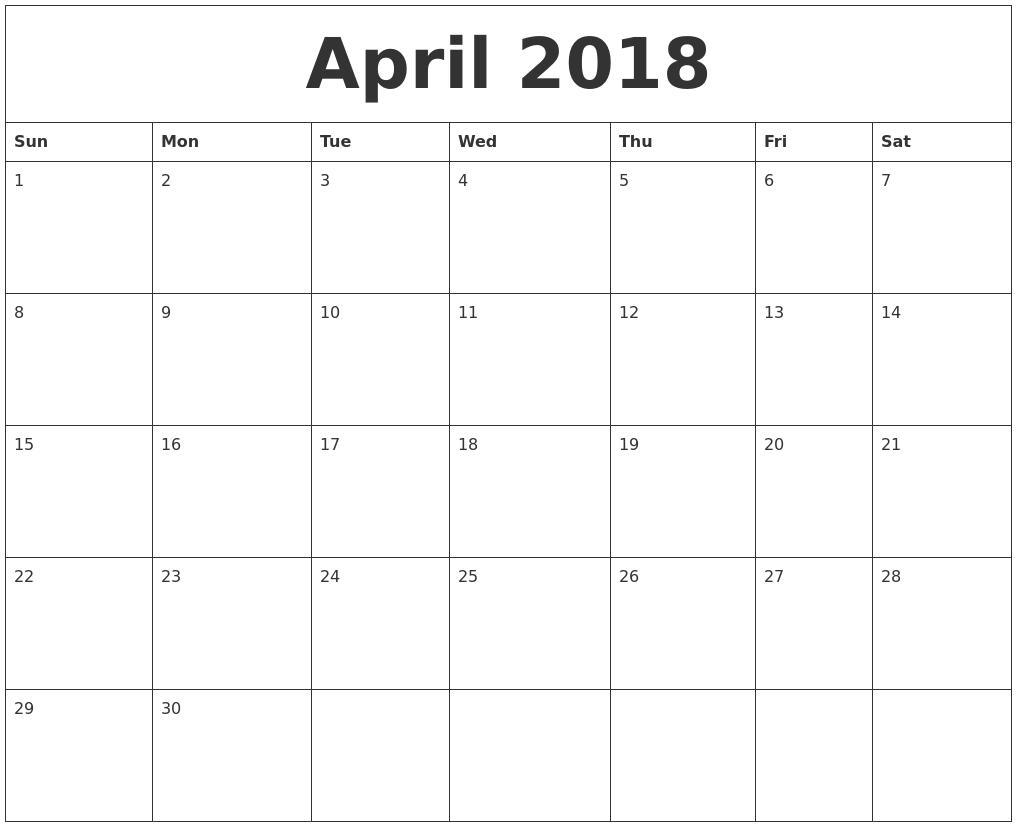 August 2018 Calendar Editable Template