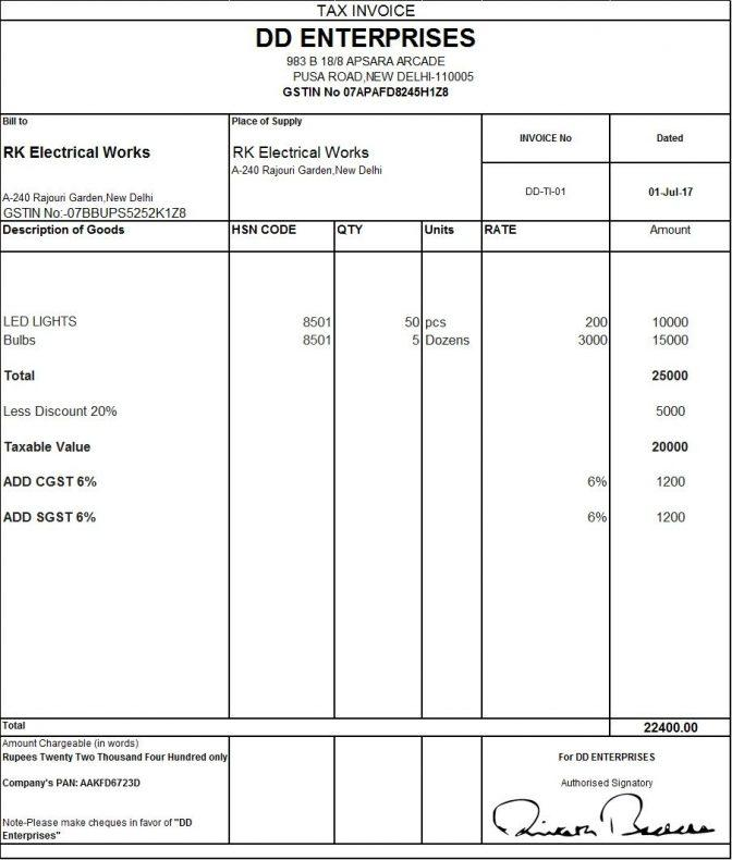 Australian Tax Invoice Template Download