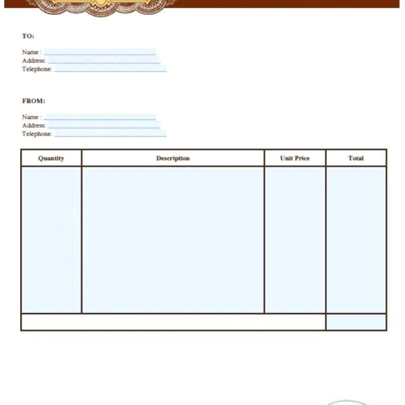 Auto Repair Receipt Form