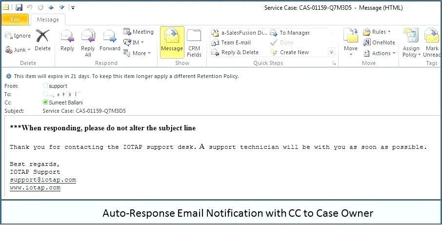 Auto Reply Email Template No Longer With Company