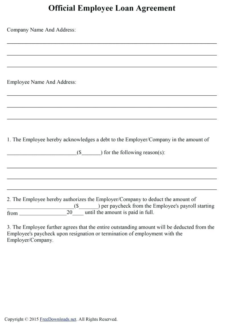Automatic Payroll Deduction Form Template