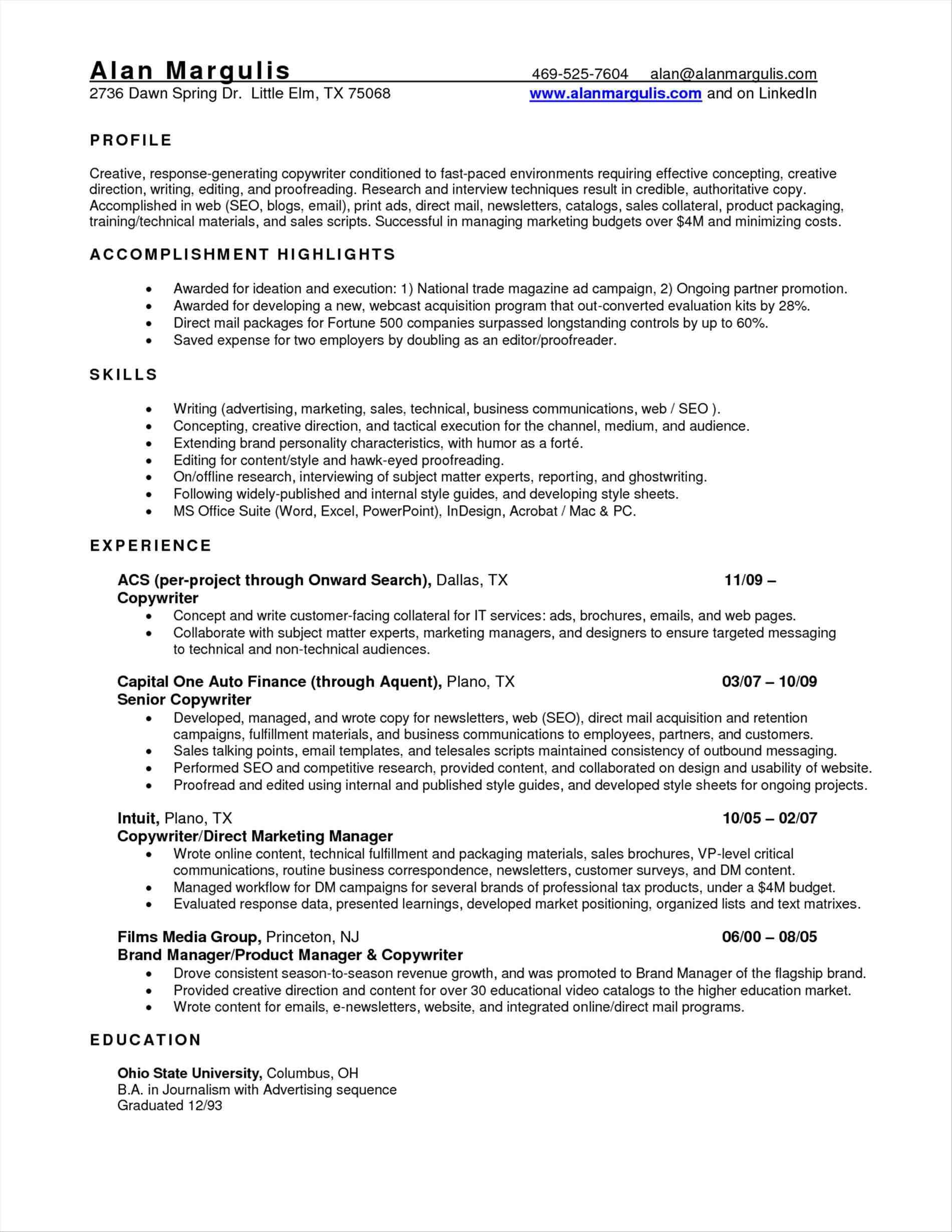 Automotive Cv Template