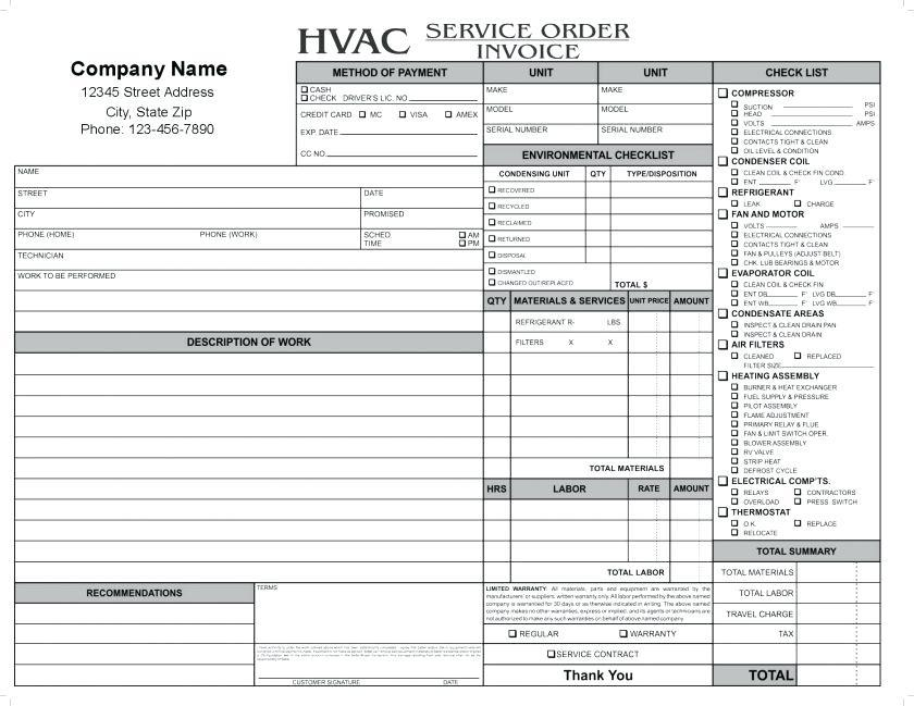 Automotive Service Invoice Template Excel