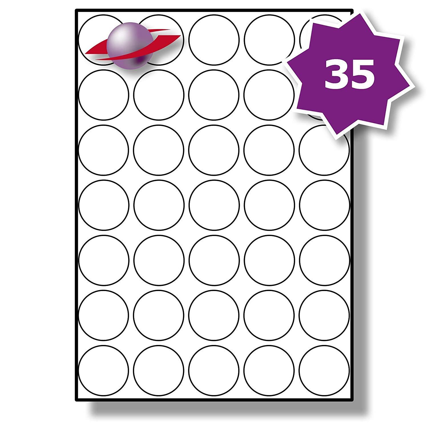 Avery 37mm Round Label Template