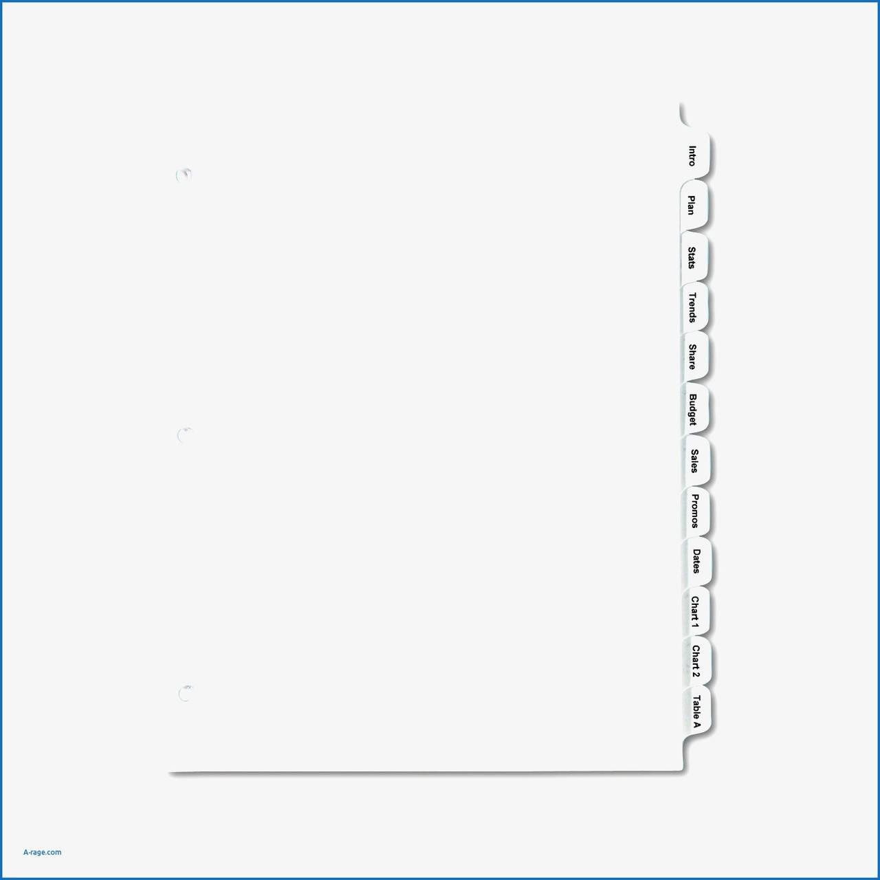 Avery 5 Tab Clear Label Divider Template