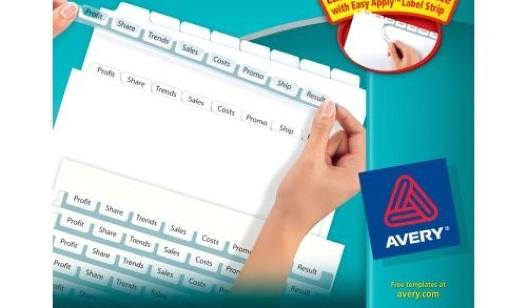 Avery 8 Tab Index Maker Clear Label Divider Template