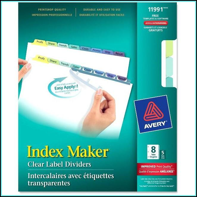 Avery 8 Tab Index Template Download