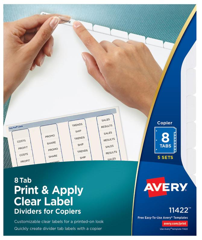 Avery 8 Tab Template 11422