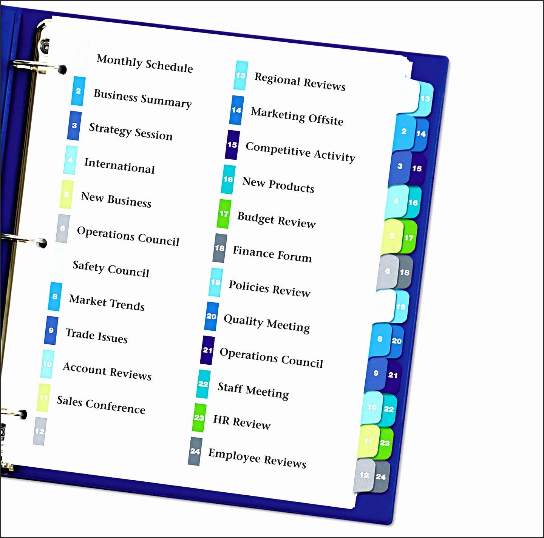 Avery Big Tab Templates For Microsoft Word