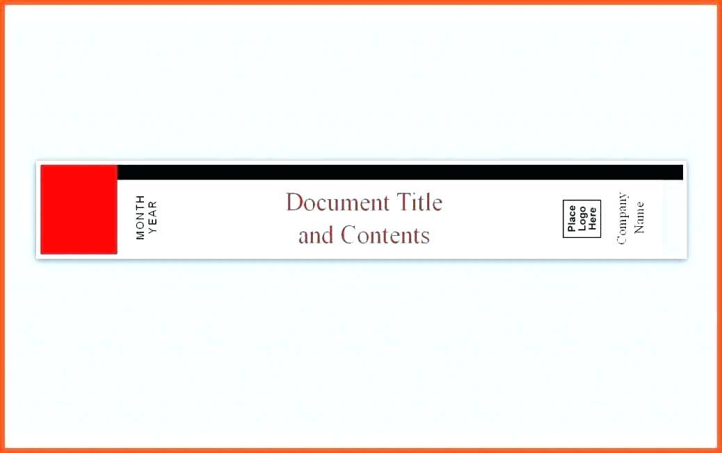 Avery Book Spine Label Template