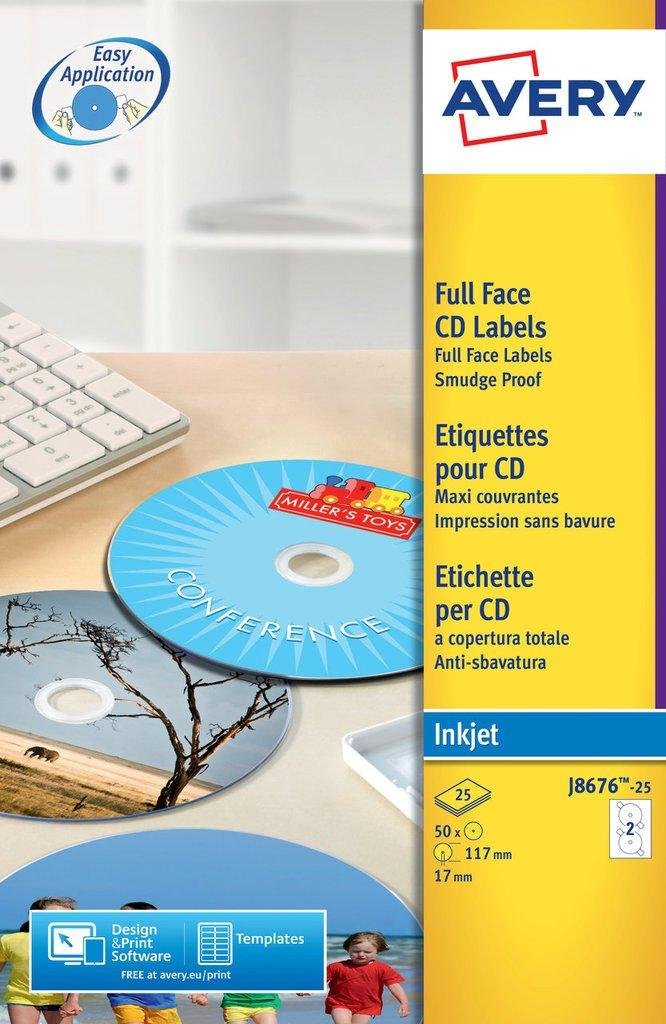 Avery Cd Label Template J8676