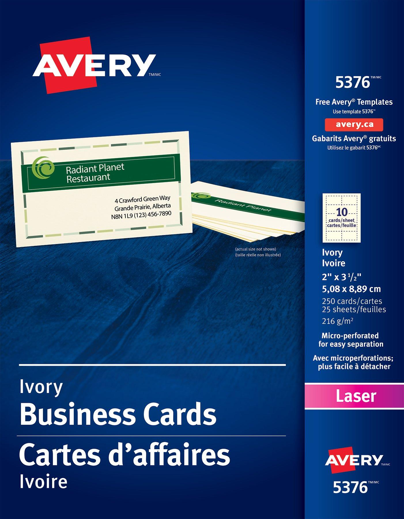 Avery Convention Card Template 10 Per Sheet