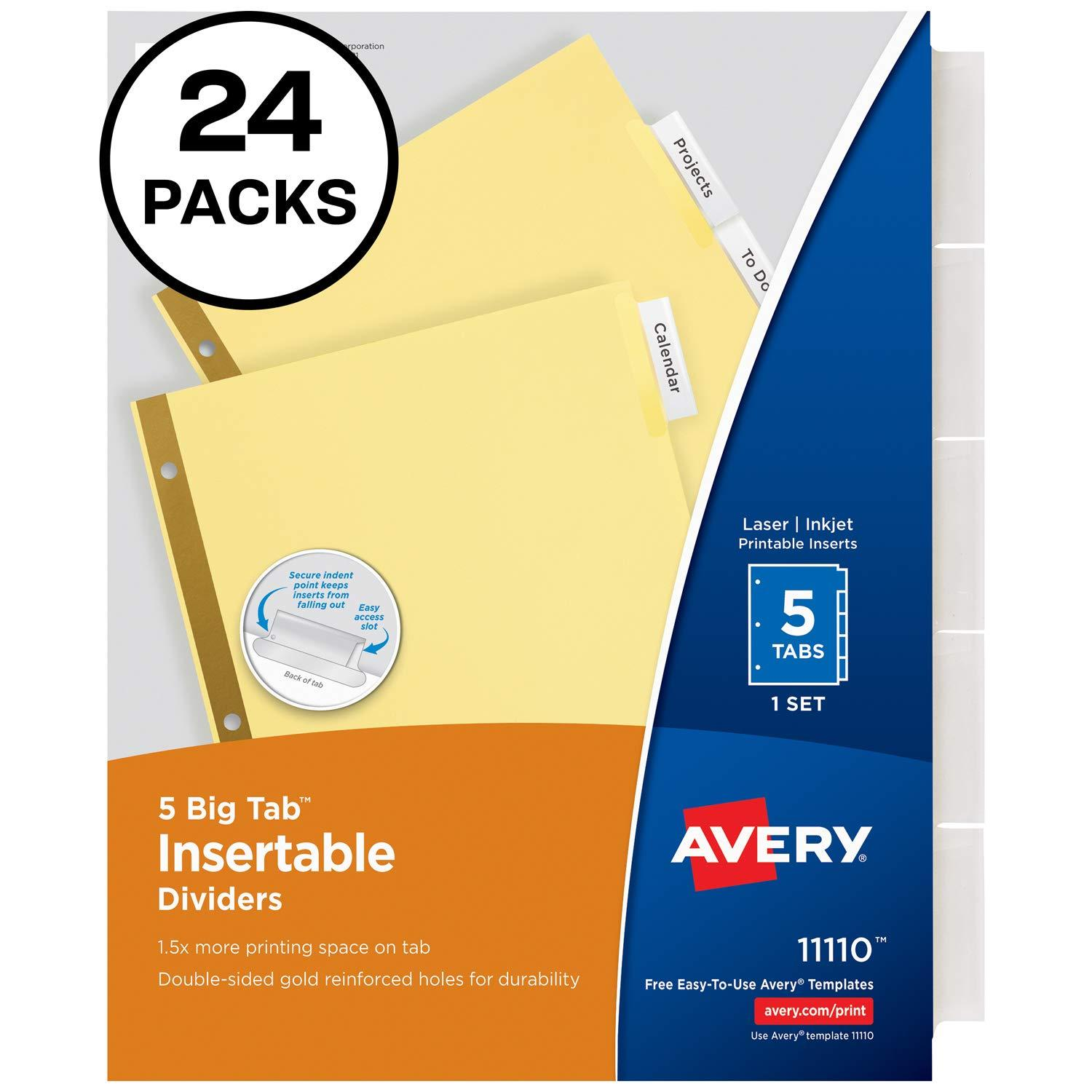 Avery Divider Templates 11517