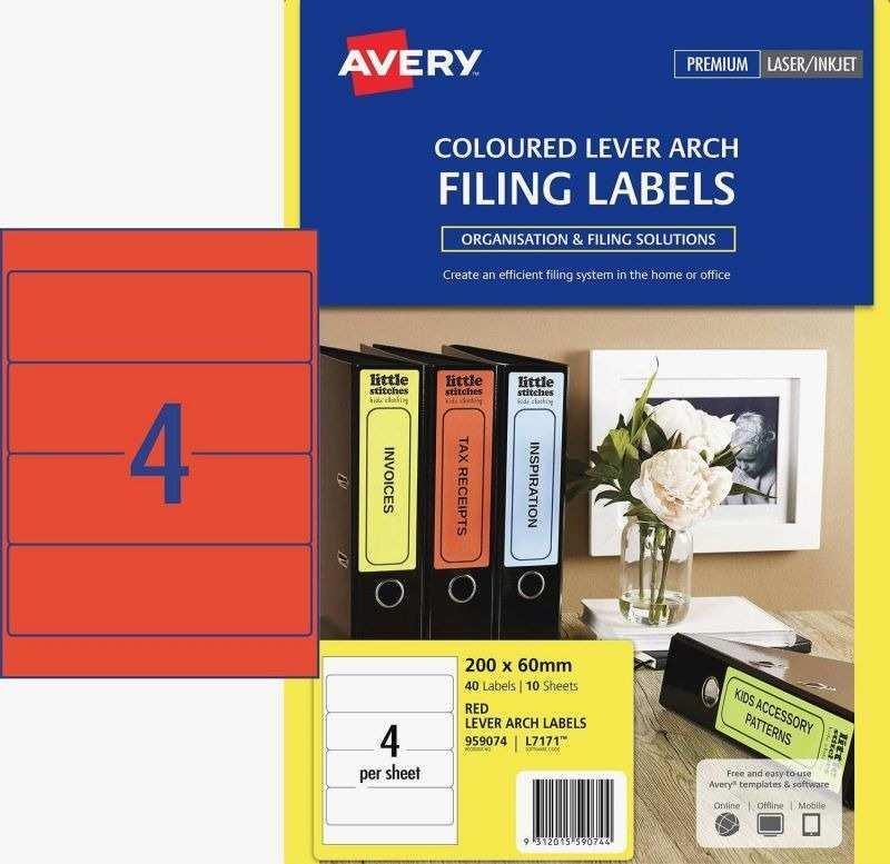Avery File Folder Template 5266