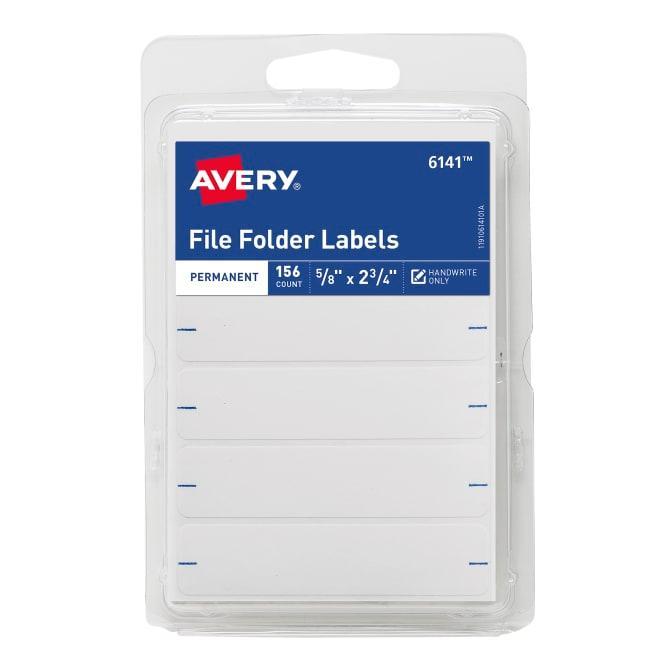 Avery File Folder Template 8593