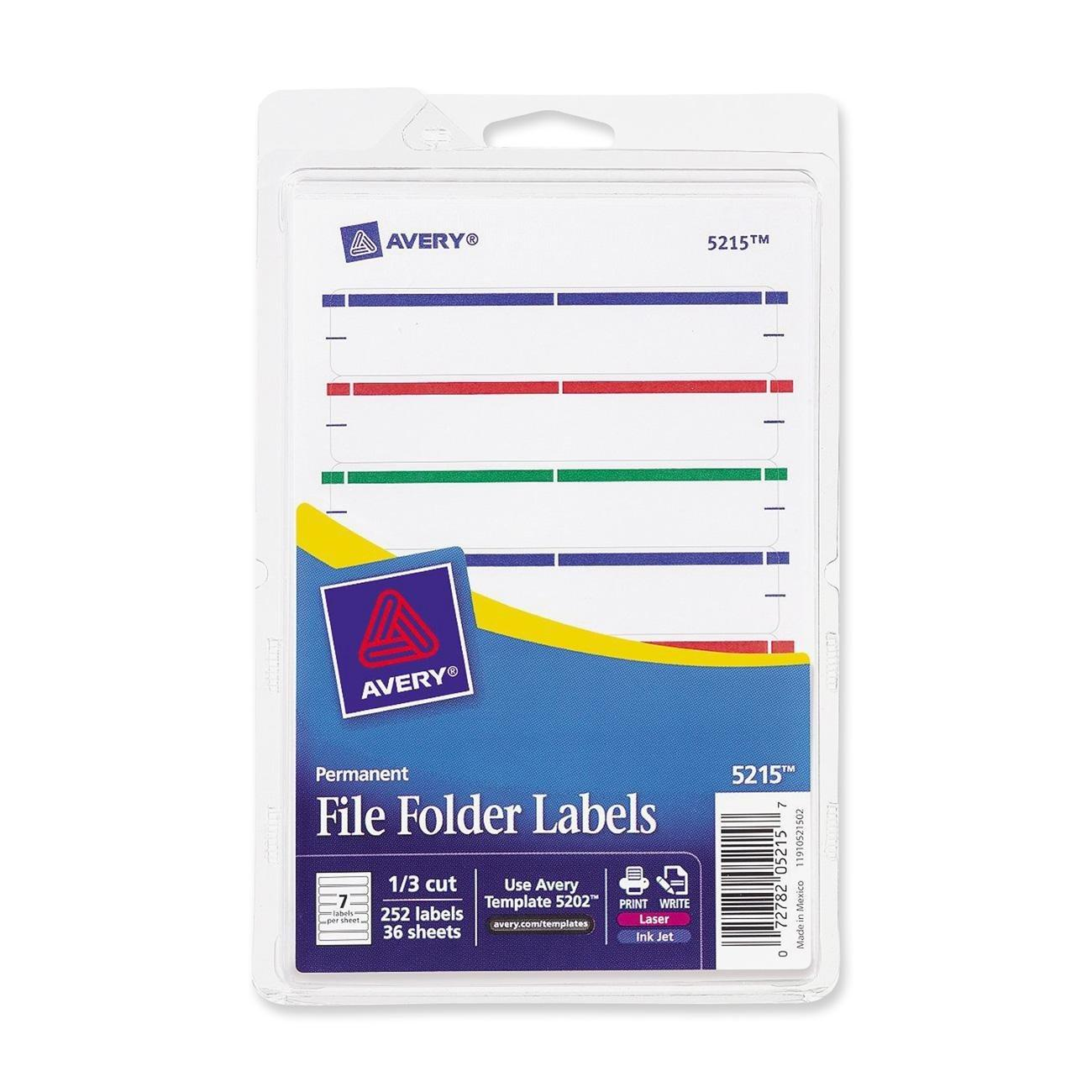 Avery File Label Template 5204