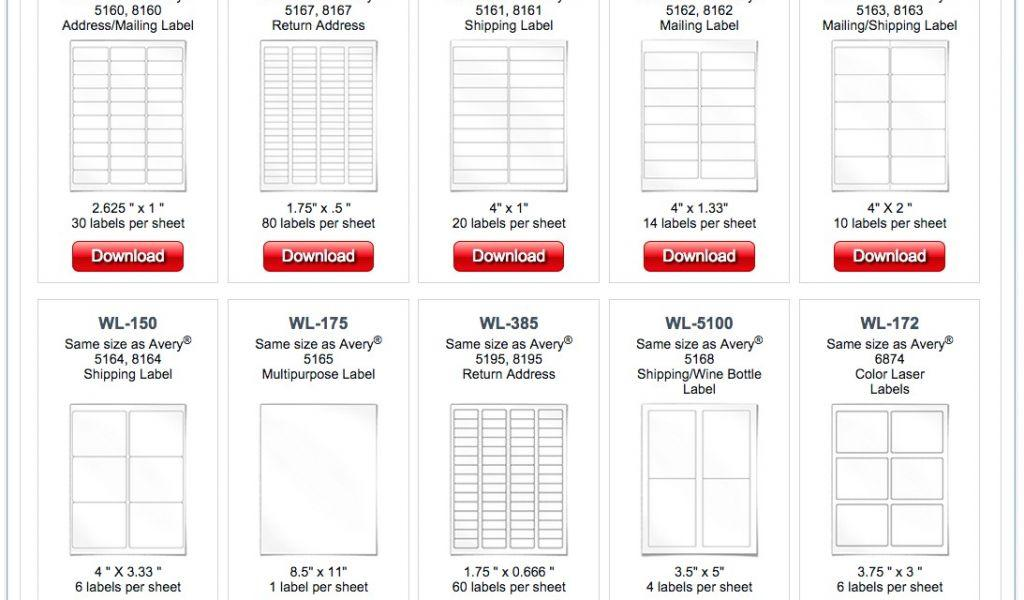 Avery File Labels Template 5366