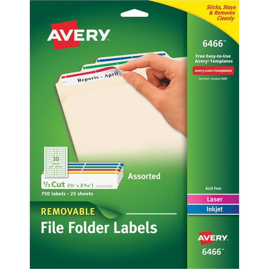 Avery Filing Labels Template 6466
