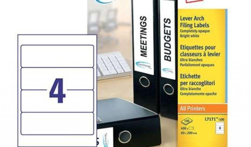 Avery Filing Labels Template L7171